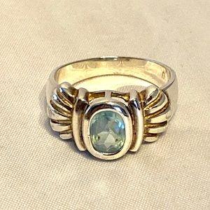 Sterling/Blue Topaz Ring